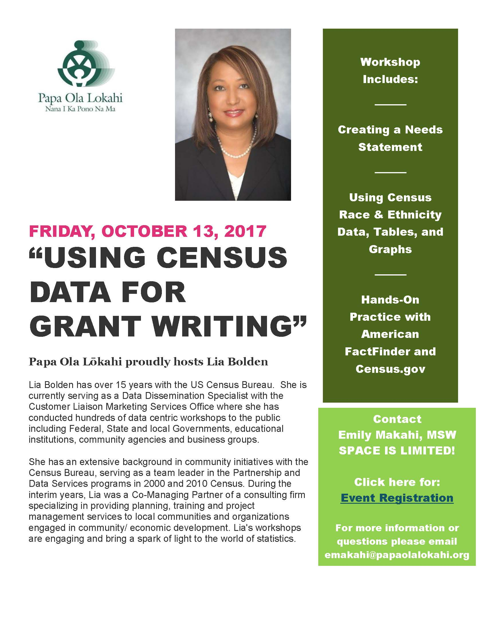 Census Training Flyer Oct 2017