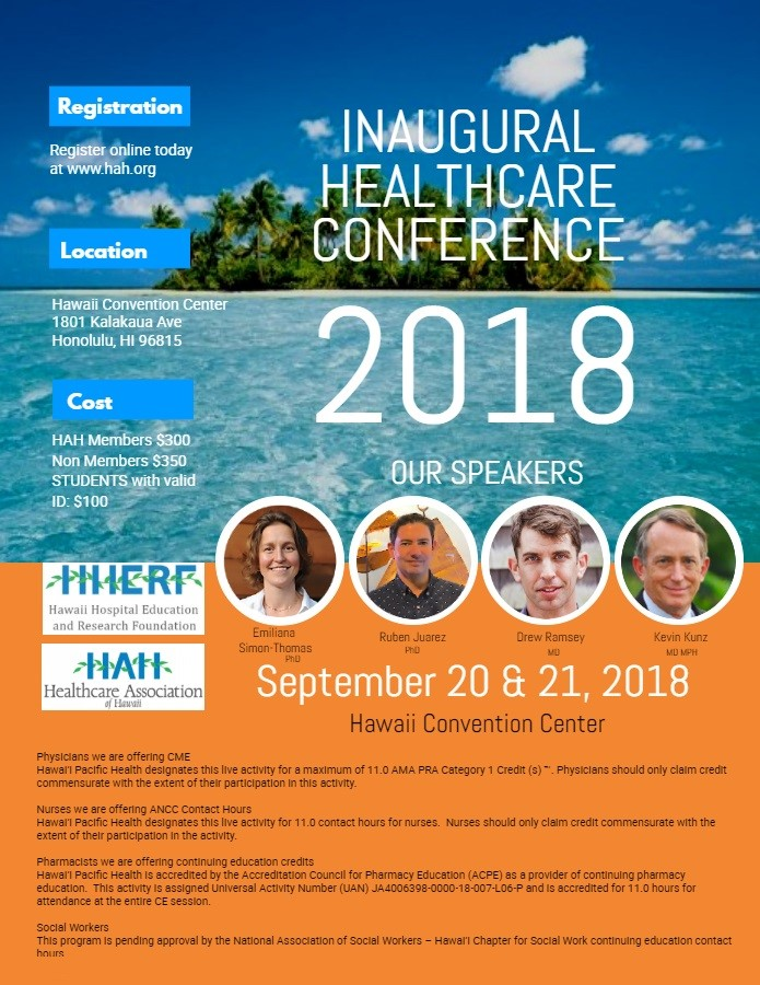 Healthcare Assn of Hawaii Annual COnference 2018
